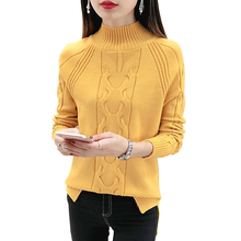 Sweaters Women 2018 New Half-high Turtleneck Collar Raglan Long Sleeves Pullovers and Sweaters Hem Split Twist Knit Sweater Tops army green lace up knit long raglan sleeves sweater