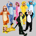 Flanela Crianças Sleepwear Meninos Meninas Pijamas Pikachu Dos Desenhos Animados Anime Animal Cosplay Macacão Inverno Quente manga Comprida Pyjam