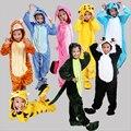 Niños ropa de Dormir de franela Niños Niñas Pijamas Pikachu Cartoon Anime Cosplay Animal Onesie Invierno Caliente de manga Larga Pyjam
