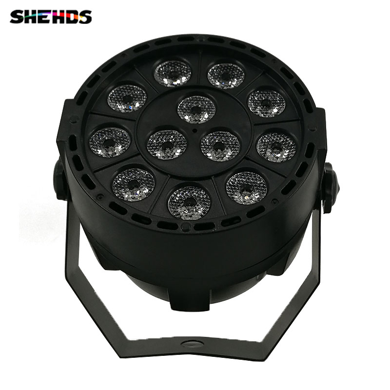 LED Flat Par 12x3W Ultraviolet Lighting LED Stage Light Par Light With DMX512 for Disco DJ Projector Machine Party Decoration
