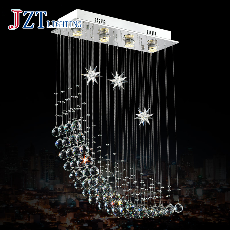Z Best Price Meals Chandeliers CreativeSquare Dining Room Bedroom Lamp LED Crystal Messenger Wire