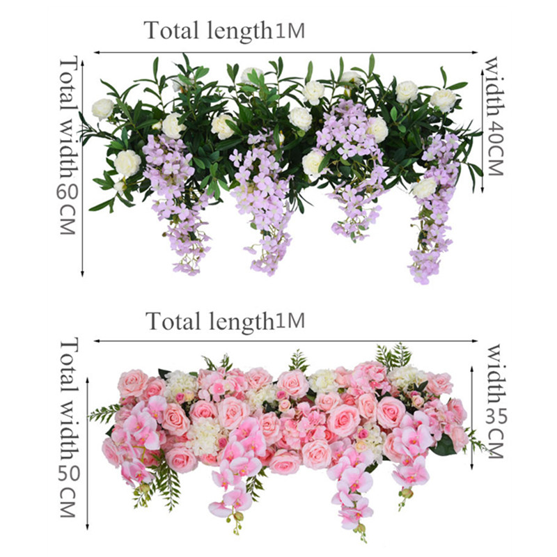 Artificial Flower Wedding Rose Phalaenopsis Flower row Arch door T station Road Leading Flower Wall Decoration Wedding Props 1pc-in Artificial & Dried Flowers from Home & Garden    3