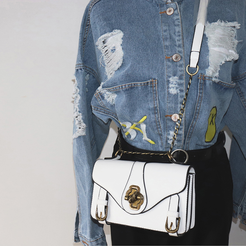 Vintage Fashion Lock Women Messenger Bag 2017 Designer Handbags High Quality Women Small Flap Bag Chain Shoulder Crossbody Bag luxury handbags women chain messenger bag lipstick lock designer woman black