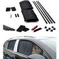 50 S 50 cm x 44 cm 2 pcs Car Window Sombrinha Pano de Cortina Viseira de Proteção Automotiva Carro Preto Ajustável cortina