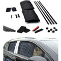 50S 50cmx44cm 2pcs Car Window Sunshade Curtain Automotive Protective Visor Black Adjustable Car Cloth Curtain