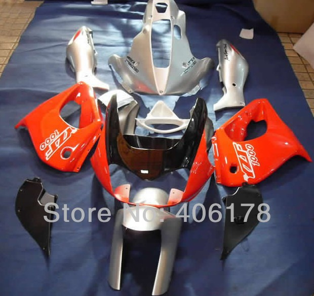Hot Sales,Best price 97-07 YZF1000R full set For Yamaha YZF 1000R Thunderace 1997-2007 Orange and Silver Motorcycle Fairings hot sales 97 07 yzf1000r abs fairing kit for yamaha yzf 1000 r thunderace 1997 2007 blue