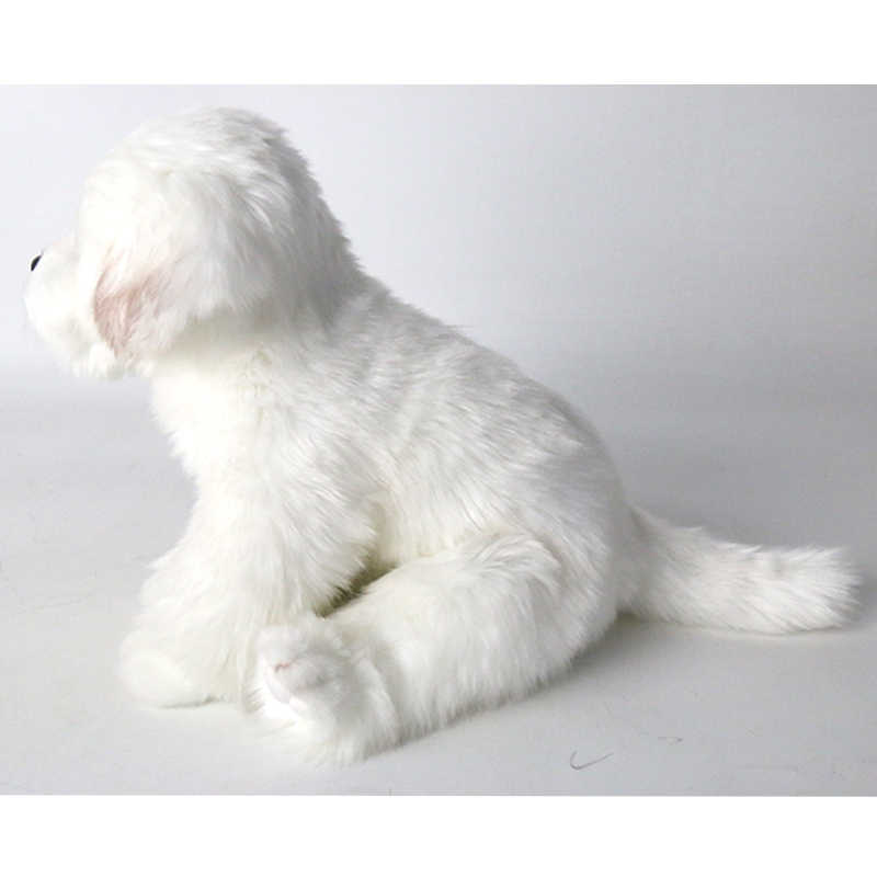 40e740dcde71 ... Cute Plush Toy White Bichon Frise Puppy Stuffed Dog Simulation Pet  Kawaii Fluffy Baby Doll Birthday ...