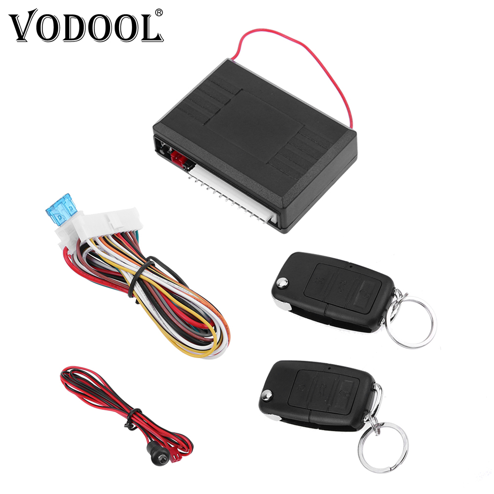 VODOOL Universal Car Alarm Systems 12V Auto Remote Central Kit Door Lock Vehicle Keyless Entry System Central Control Locking