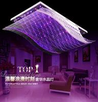 Smooth LED ceiling lamp Rectangular living room lamp Crystal lamps Restaurant Chandelier Bedroom Home Atmosphere led lighting