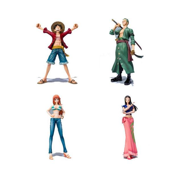 One Piece PVC Action Figure Toys Without Box 16cm Luffy Zoro Robin Nami PVC Figure Toy Dolls Model For Gifts  F0532