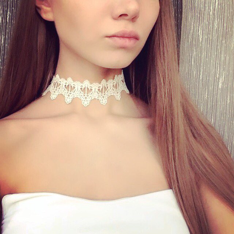 White chokers reviews online shopping white chokers for Black tattoo choker