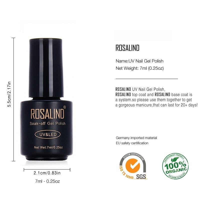Aliexpress Rosalind Primer Gel Nail Polish Black Bottle 7ml Hot 29 Colors Soak Off Uv Led Art Varnishes From Reliable