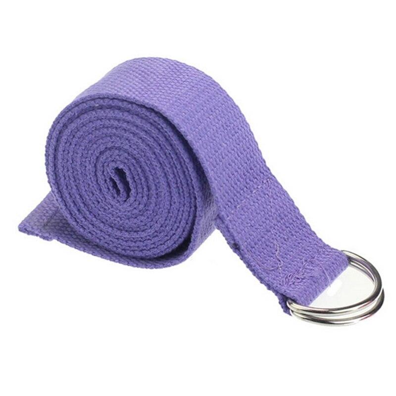 2.5cm*185cm Adjustable Sport Exercise Stretch Strap D-Ring Belts Gym Waist Leg Fitness Yoga Belt 3 Colors