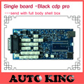 2017 Fast free Shipping Quality A+++ black TCS CDP PRO scanner no bluetooth version with 2014.02 keygen Single Board obd Scanner