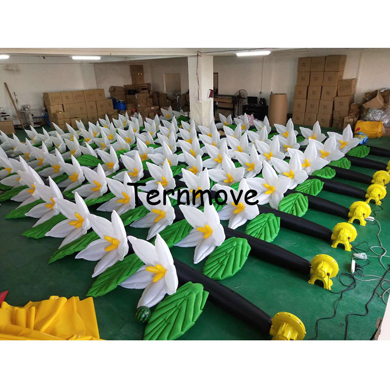 Inflatable Flower Decoration For Wedding Stage Decoration Led