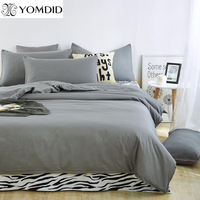 Solid Reactive Printed linens Bedding Set Polyester Cotton bed linen Twin Full Queen King Duvet Cover Flat Sheet Pillowcase