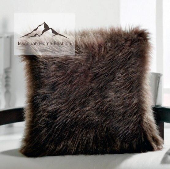 Cojín almohada de piel sintética decoración suave respetuoso del