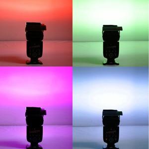 Image 4 - Gosear 12 قطع شفافة اللون هلام تصفية ضوء فيلم ورقة فلتر حامل 12 اللون للاستوديو فك مضيا 1.8x3 بوصة