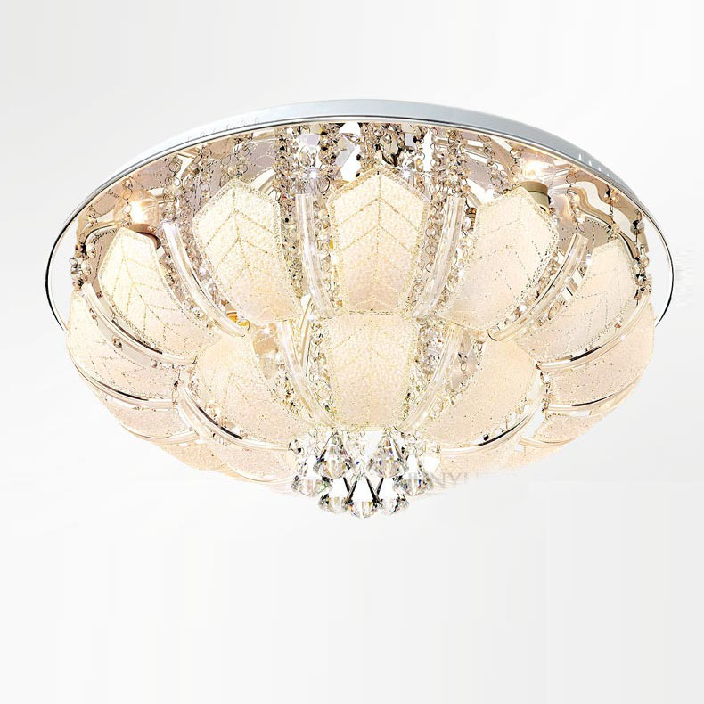 Modern 25 Crystal Living Room LED Ceiling Light Luxury Glass Bent Carved Pieces Bedroom Restaurant crystal Ceiling Lamp
