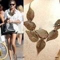 Collier femme Moda Vintage Collares y Colgantes Declaración Gargantilla Collar de la Joyería Joyas de Moda de La Hoja de las mujeres collares 2017