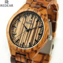 REDEAR906 all bamboo material luxury men s font b watch b font font b watch b