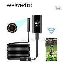 8mm Wifi Endoskop 1M 2M 3,5 M 5M 10M Wasserdichte Kamera Endoskop Weiche Wifi Endoskop kamera Endoskop Kamera Für Android IOS