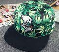2015 Nueva Moda Weed Snapback Caps Sombreros de Hip Hop de Béisbol Cap Strapback para Hombres Mujeres Hueso Aba Reta Gorras Homme Casquette