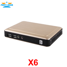 2016 Partaker Mini PC Computer Thin Client X6 Linux Embedded 1080P 1G RAM+8G FLASH RDP 8.0 Server OS Support Win7/8/Linux(China (Mainland))