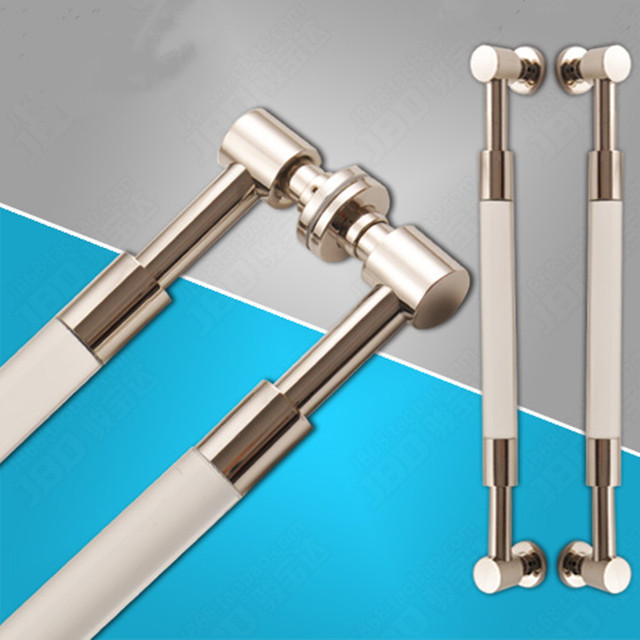 600mm de alta qualidade crystal clear vidro grande portão porta alças, aço inoxidável grande portão porta alças puxa