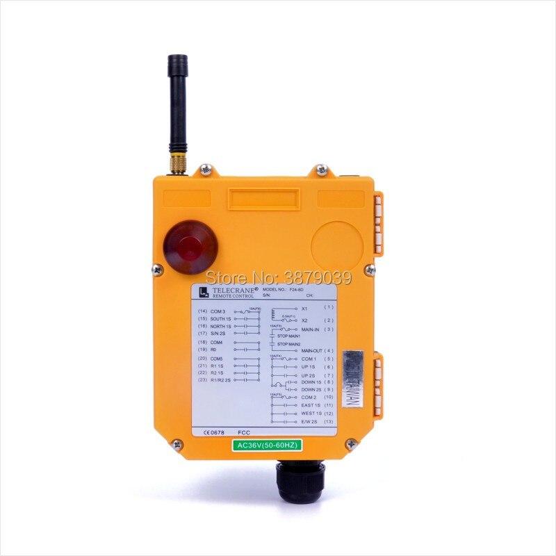 TELECRANE промышленный беспроводной радио двойная скорость 8 uttons F24 8D пульт дистанционного управления (1 передатчик + 1 приемник) для крана - 4