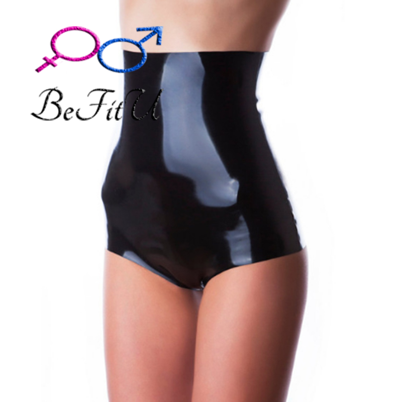Latex Fetish Nice High Waist Line Shorts  Pant With Ruffle Sexy 100% Natural  Sexy Women
