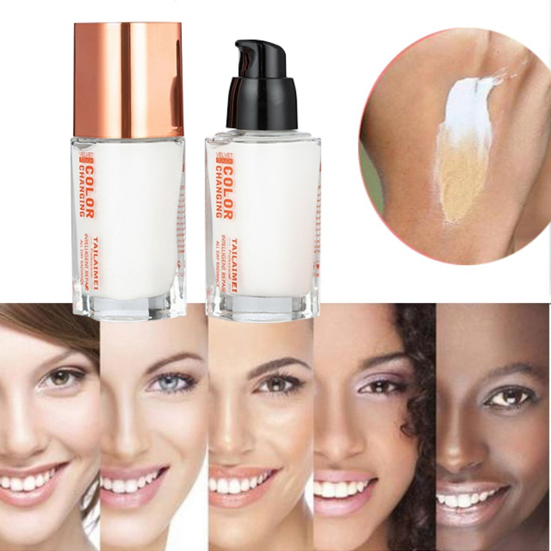 35 ML Color Changing Foundation Makeup Base Nude Face Liquid Cover Concealer Skin Cosmetics  Gift Sombras N3