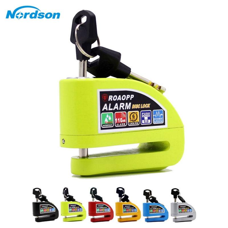 Nordson Motorcycle Alarm Lock Motorbike Anti-theft Alarm Wheel Disc Brake Security Safety Siren Lock For Suzuki Kawasaki BMW