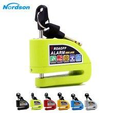 Nordson Motorrad Alarm Lock Motorrad Anti diebstahl Alarm Rad Disc Bremse Sicherheit Sicherheit Sirene Lock für Suzuki Kawasaki BMW