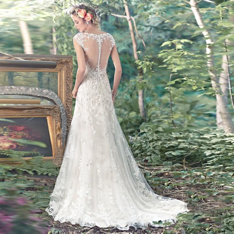 2017 White Long Robe De Mariage Bridal Gowns Vestidos De Novia Sexy Tulle Wedding Dresses Vintage See Through Wedding Dresses 4
