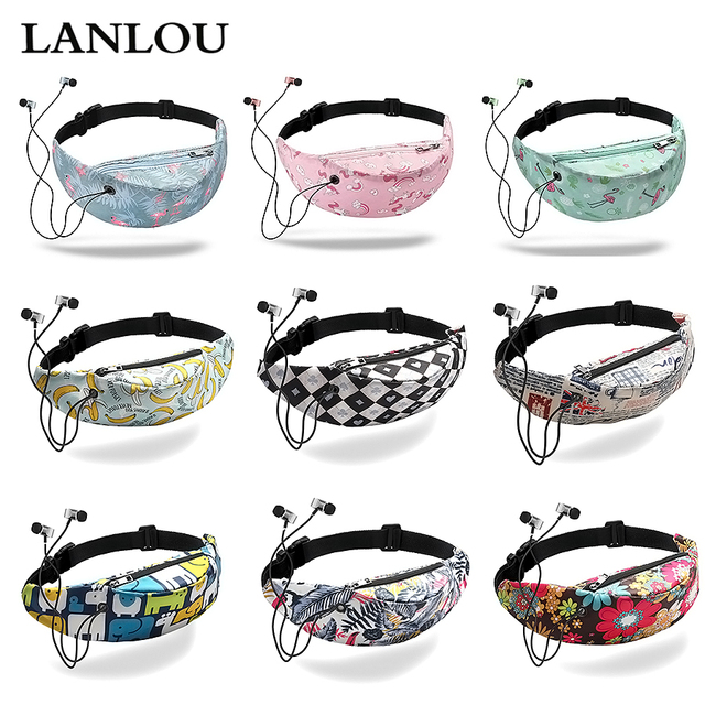 Women Waist bag waterproof Canvas High Quality Belt Bags  Fanny Pack girls Sling Bags New Fashion Mobile Phone Pouch sports bag