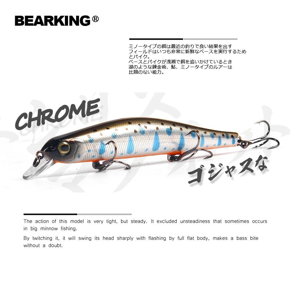 Bearking 11 cm 17g aimant poids système longue coulée Nouveau modèle de pêche leurres dur appât plongée 0.8-1.2 m qualité wobblers minnow