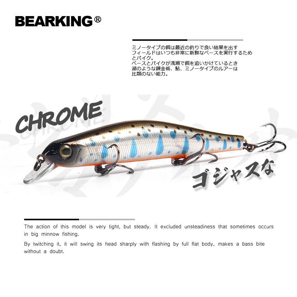 Bearking 11 cm 17g di peso del sistema di colata lunga Nuovo modello di pesca esche hard esca immersione 0.8-1.2 m qualità wobblers minnow