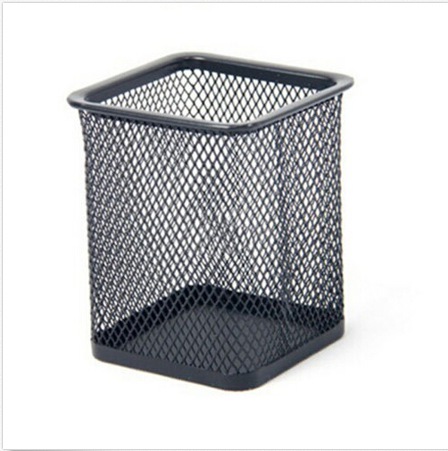 1 Pc New Classic Mesh Pen Holder Metal Office Accessories