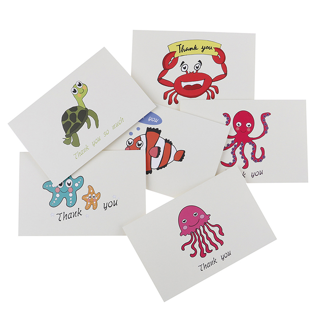 6 Cards For Kids Note With Envelopes Invitations Blank Inside Greeting Custom Thank You Bulk Birthday Card