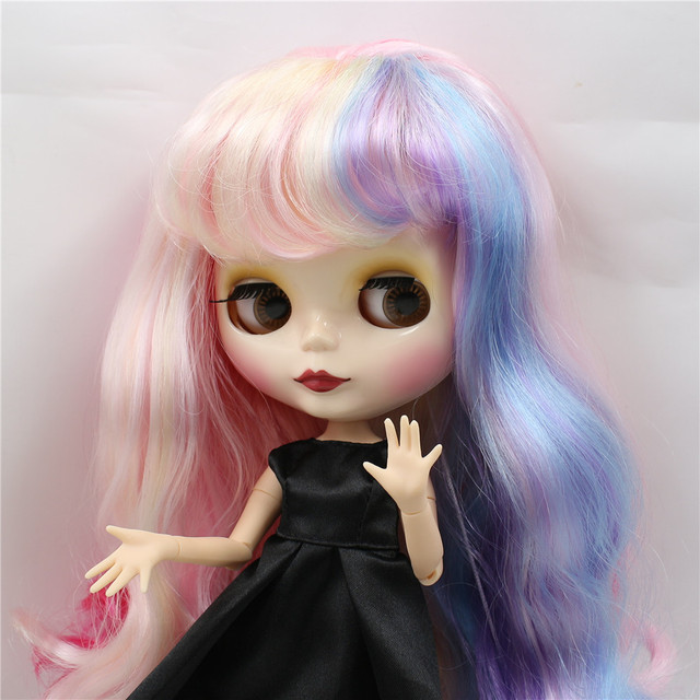 Factory Neo Blythe Doll Rainbow Hair Jointed Body 28cm