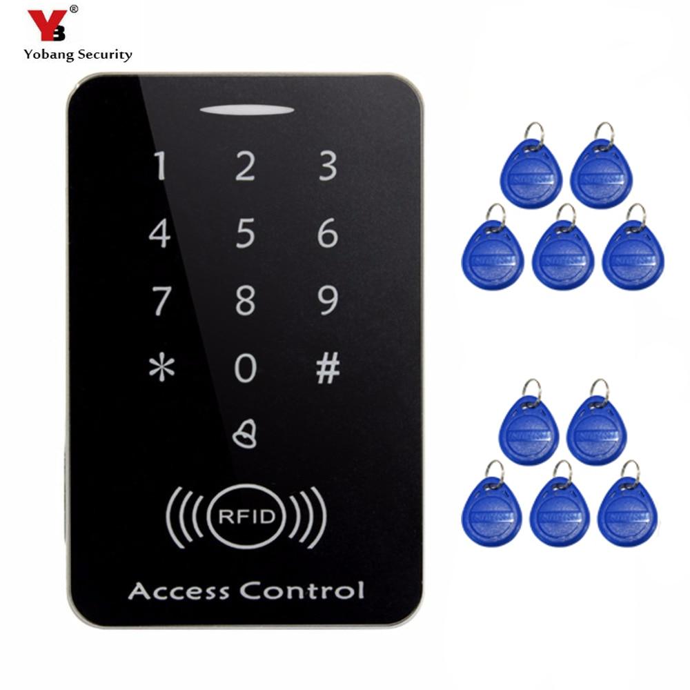 YobangSecurity 125khz RFID Proximity Card Access Control System RFID/EM Keypad Card Access Controller Door Opener Gate Opener