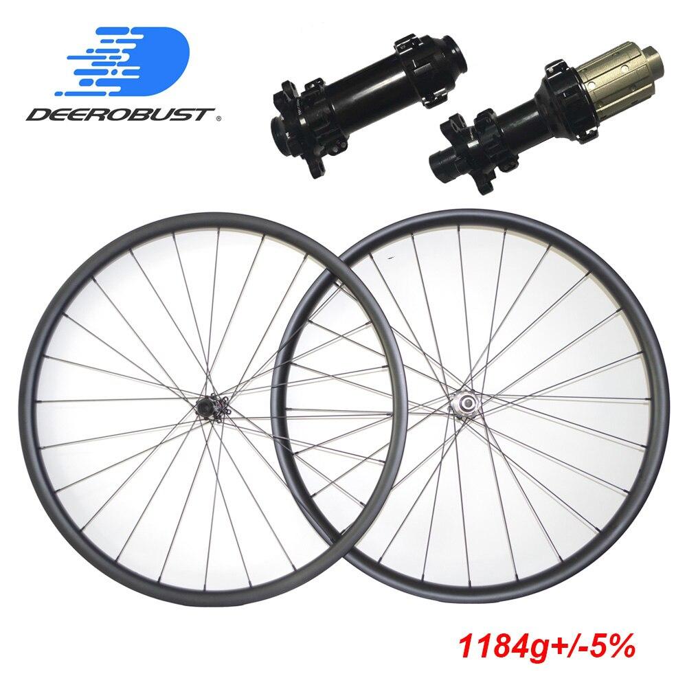 1184 г 29er MTB XC 24 мм x 30 мм Асимметричный без крючка довод бескамерные горный велосипед углерода Колеса 29 inch колесной 29 3 К 12 К твил