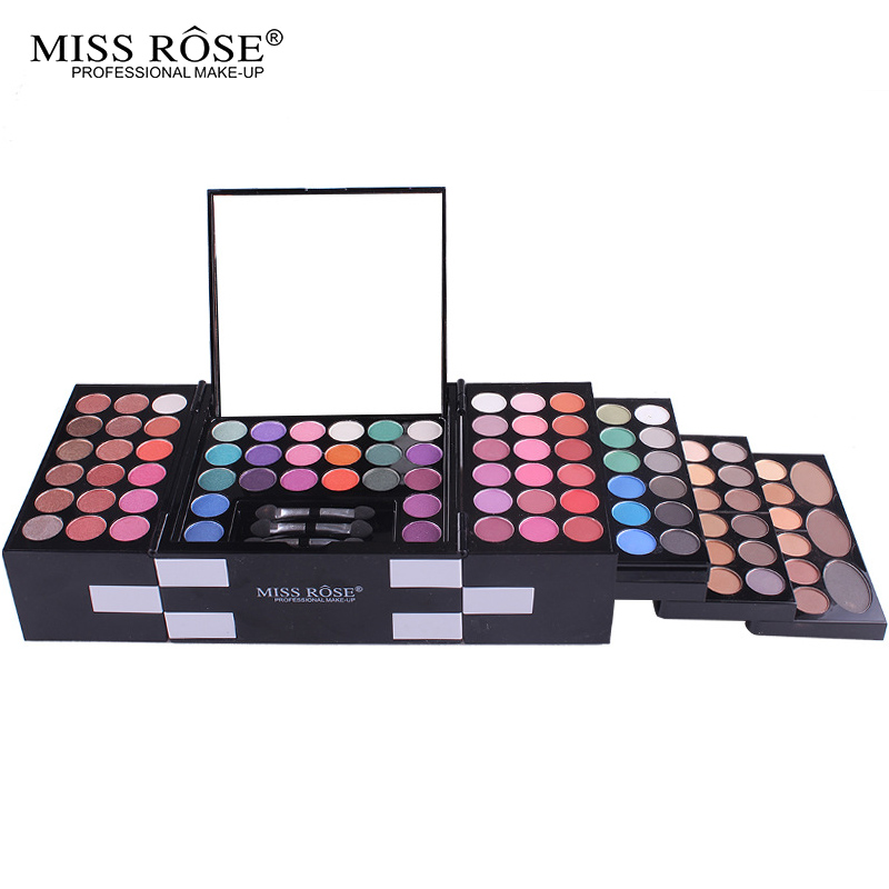 Miss Rose Professional Makeup Set 3D Matte & Shimmer Eyeshadow Palette 3 Color Blush/Eyebrow Make Up Kit Makeup pallete Gift professional make up 144 color eye shadow 3 color blush 3 color eyebrow powder makeup set box