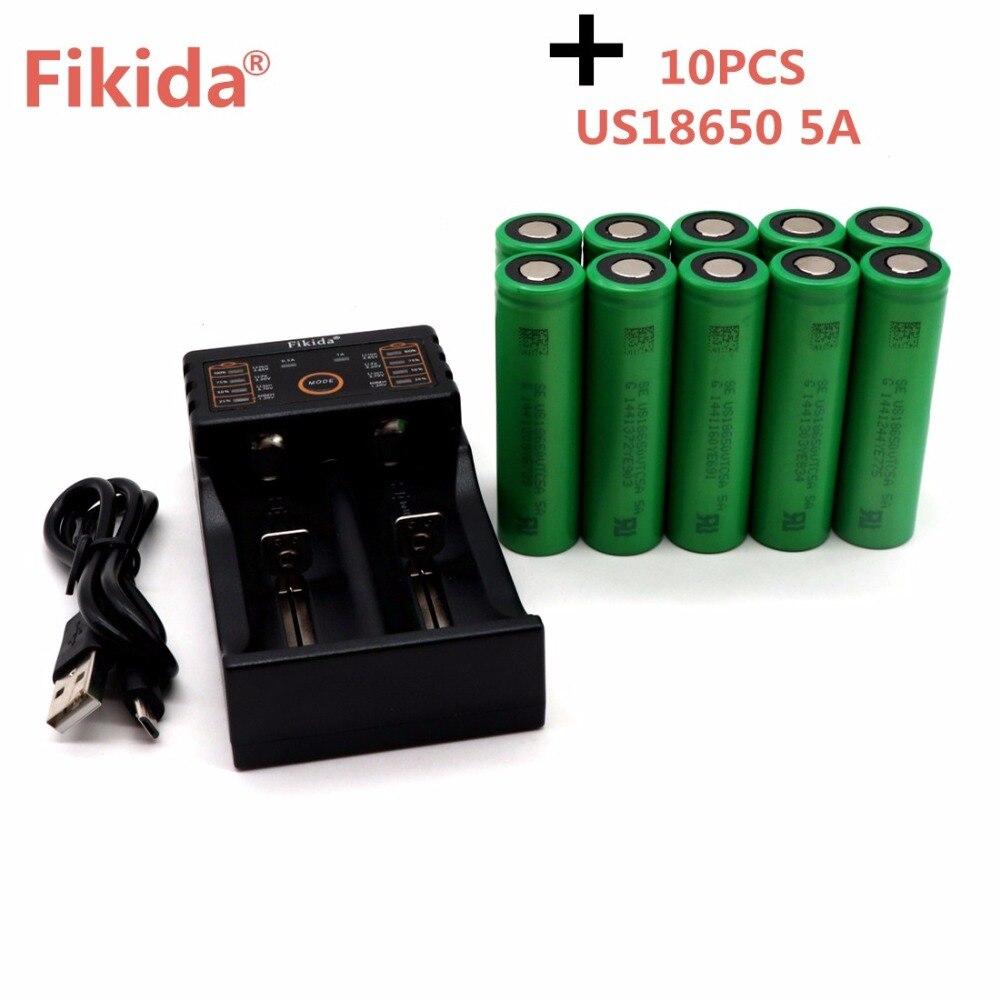 Fikida VTC5A 3.7 V 2600 Mah 18650 Battery For Sony VTC5A 35A Toys Tools Flashlight Battery+F2 Smart Charger