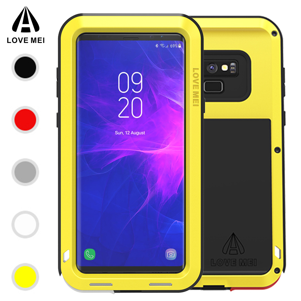 Love Mei POWERFUL for Samsung Galaxy Note 9 Case Life Waterproof Aluminum Armor Full Protective Funda for Samsung Note 9 Cover