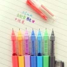 купить 7 Color gel ink pen 0.5mm ballpoint Syringe refill Roller ball pens for writing Office School supplies Caneta escolar CB663 дешево