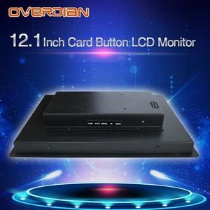 "Image 2 - 12 ""resistancetouch التحكم الصناعي lcd monitorvga/usb واجهة 1400*1050 المعادن قذيفة تركيب بطاقة مشبك"