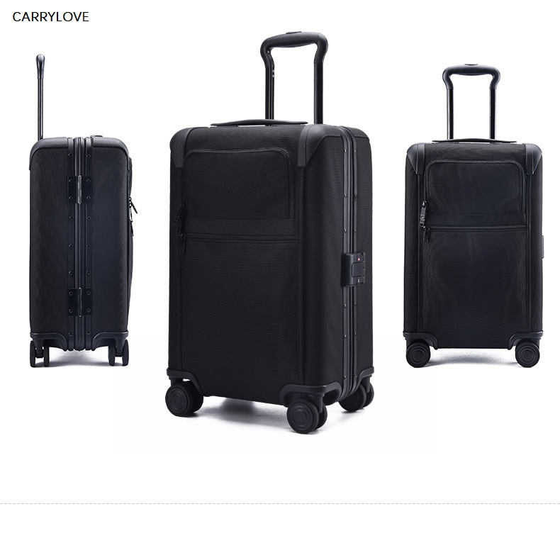 CARRYLOVE business High quality Waterproof case, full aluminum frame 20 inches PC Rolling Luggage Spinner brand Travel Suitcase jacques lemans jl 1 1654b