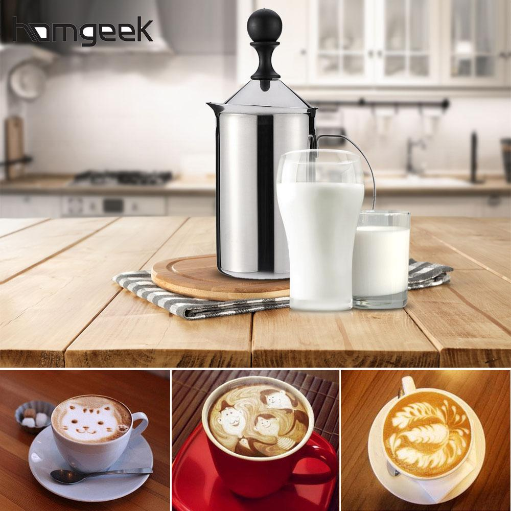 600ml Stainless Steel Milk Frother Foamer Double Mesh DIY Coffee Whisk Mixer  Stirrer Egg Beater Electric Blender Kitchen Tool
